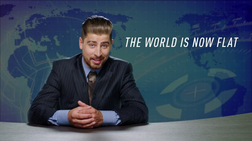 Breaking news with Peter Sagan – The Earth is Flat