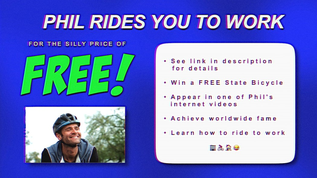 Win Bike from State Bicycle Co. & Ride to Work with Phil Gaimon 1