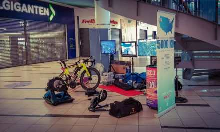 Danish Cyclist Rides 5,000 Kilometers on Zwift at a Danish Mall