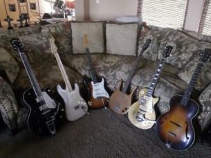 Scottie Blinn's guitar collection