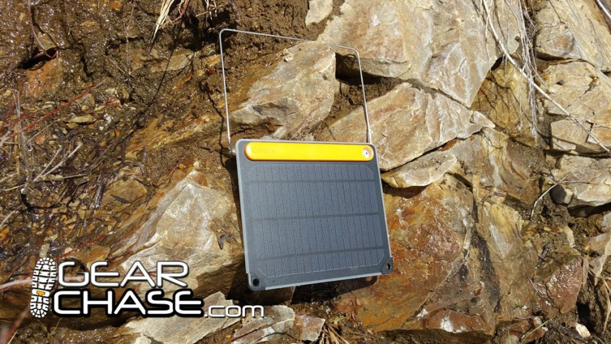 BioLite SolarPanel Hanging from Rocks