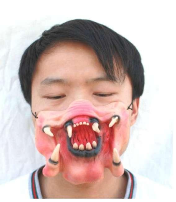Halloween-makeup-Funny-Half-Face-Mask-Falconer-Predator-Alien-Hunter-Tracker-Predator-Berserker-Predator-Elder-Predator-650