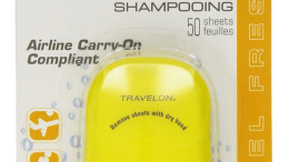 Paper shampoo avoids carry on baggage hassles when traveling