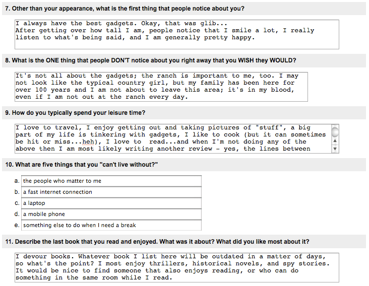 Fun questions for online dating