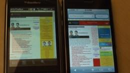 iPhone 3G vs BlackBerry Storm