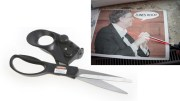 Laser guided scissors help keep your cutting straight