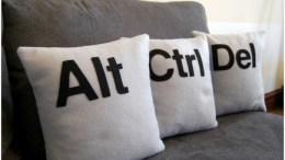 Let your friends crash on these CTRL-ALT-DEL Pillows