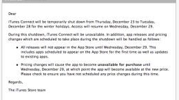 Remember: Starting Tomorrow, No iTunes App Store Additions or Updates for a Week