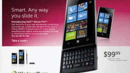 The Windows Phone 7 Dell Venue Pro is Now Available