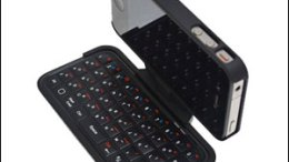 GearDiary Mobile Fun's TypeTop Swivel Mini Bluetooth Keyboard for iPhone 4 Case Creates the Smallest Mobile Office