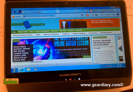 GearDiary Tycoon Windows 7 Tablet Review