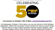 Music Diary Notes: Watch Wynton Marsalis 50th Birthday Concert Live Stream