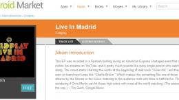 Music Diary Deal: Coldplay Live in Madrid EP FREE on Google Music