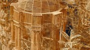 Rolling Through the Bay is Scott Weaver's Toothpick Masterpiece
