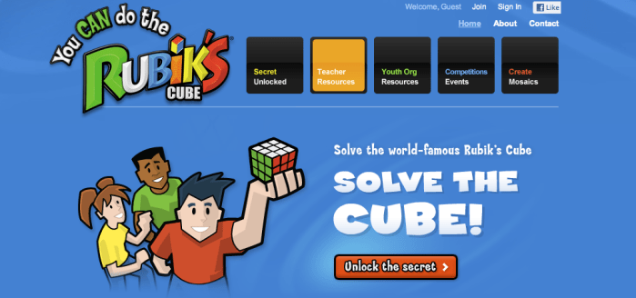 you can do the rubiks cube