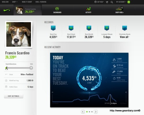 Fuelband - Home Screen