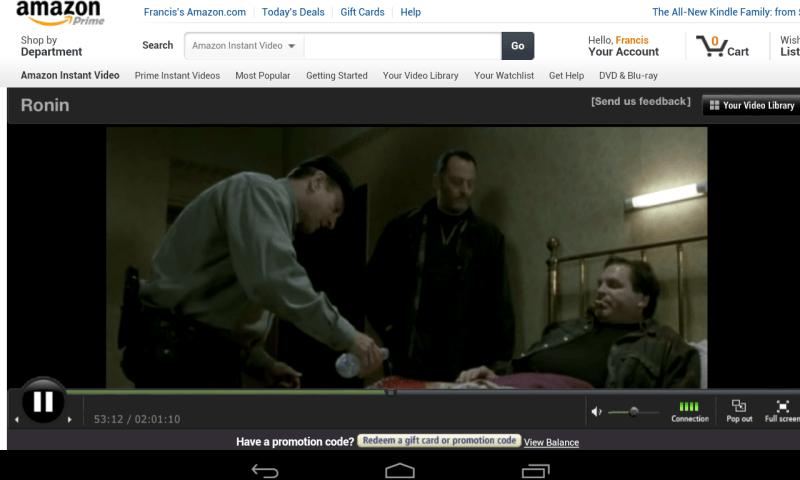 Amazon Prime on Nexus 7