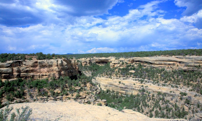 Blink ... and you'll miss all of the nestled cliff dwellings