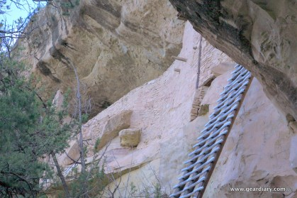 We had to climb a 32 step ladder to access the cliff dwelling ...