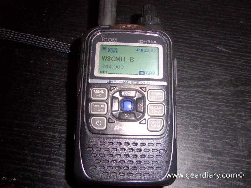 GearDiary Icom ID-31A D-star Radio Review