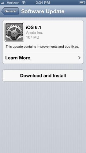 Apple Releases iOS 6.1 with iTunes Match Song Downloads and More