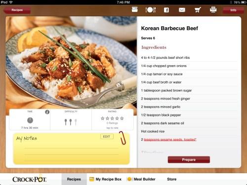 Crock-Pot Recipe App Review  Crock-Pot Recipe App Review
