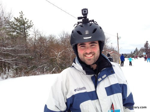 A photo of me on the slopes with the ATC Chameleon.