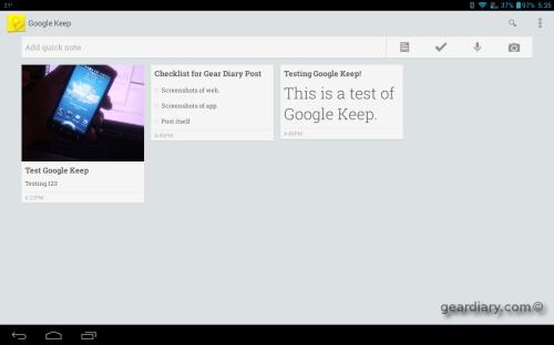 GoogleKeepTablet