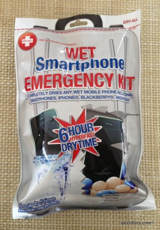 GearDiary DRY-ALL Wet Smartphone Emergency Kit to the Rescue