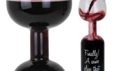 Wacky Wine Bottle Wine Glass from Gadgets and Gear