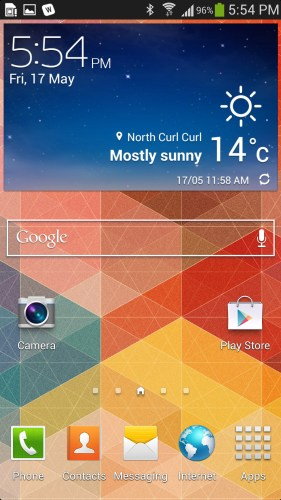 Samsung TouchWiz on the Galaxy S 4
