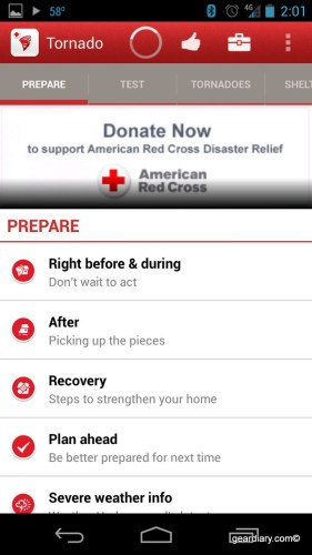 Tornado - American Red Cross for Android Review