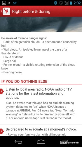 Tornado - an American Red Cross App for Android Review  Tornado - an American Red Cross App for Android Review