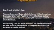 GearDiary Beamdog Loses Rights to Publish Baldur's Gate as Legal Issues Proceed