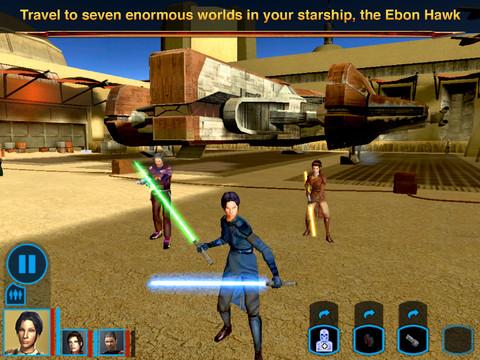 Stars Wars Knights of Old Republic iPad 03