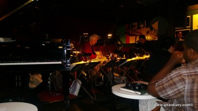 Inside the Vanguard Jazz club; this was probably the best of the pics I took, as the lights on the musicians music was prone to flaring.