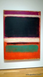 This Rothko looks blurry, but I can assure you that it is the painting and not the picture.