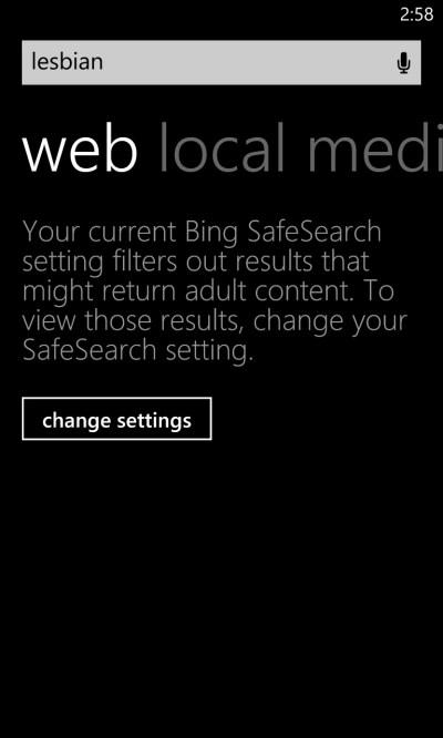 Bing Thinks 'Lesbian' Is a Dirty Word