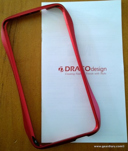 GearDiary DRACOdesign ONE Aluminum Bumper for HTC One - Sexy Curves for My Favorite Android