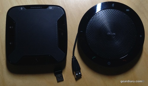 Jabra 510 UC and the Plantronics Calisto 620 UC Speakerphones
