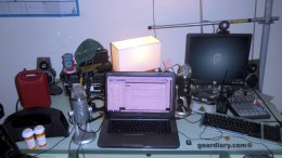 GearDiary My Workspace: 50 Year Old Desk Mixes Modern and Old School Tech