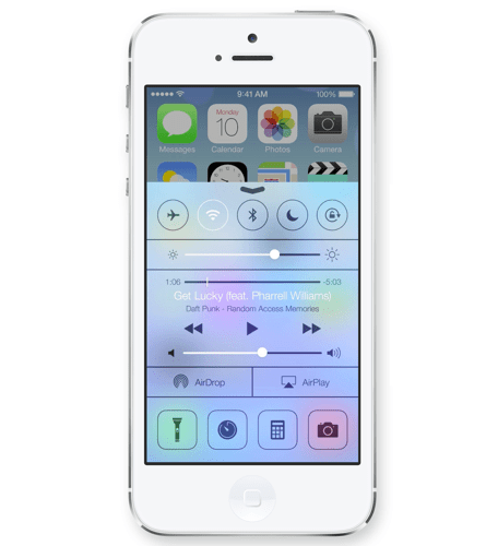 Swipe Up for Control, Swipe Down for Search in iOS 7  Swipe Up for Control, Swipe Down for Search in iOS 7