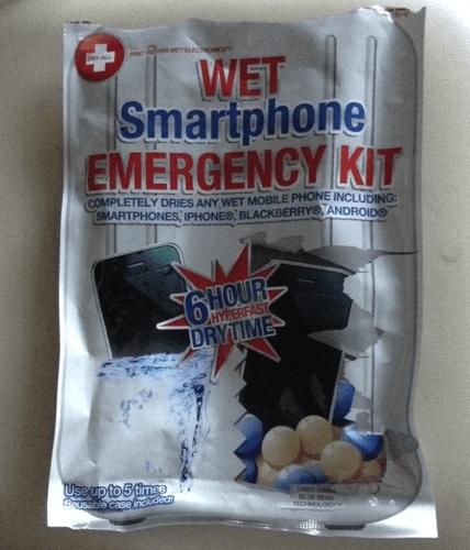 Wet Smartphone Emergency Kit
