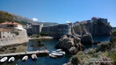 The dock below the Red Keep, Fort Lovrjenac