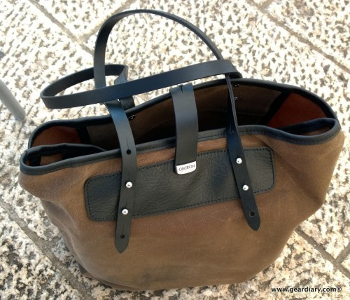 Travel in Style with the Oberon Design Waxed Canvas and Leather Everyday Tote