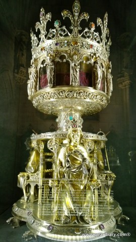 Whether you believe it or not, this is supposed to be the shrine for the original crown of thorns.