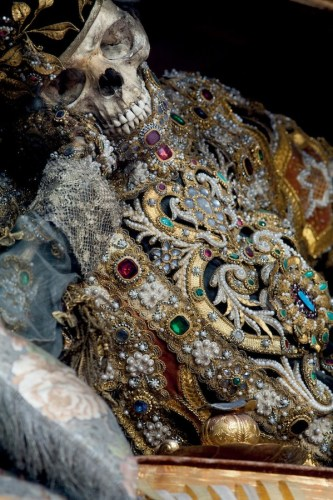 Spectacular Even in Death - Jeweled Skeletons of the Catacomb Saints