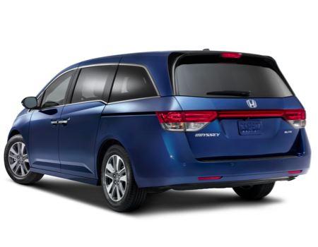 2014 Honda Odyssey Touring Elite rear view