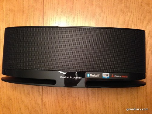 The Boston Acoustics MC100 Blue Bluetooth Speaker System