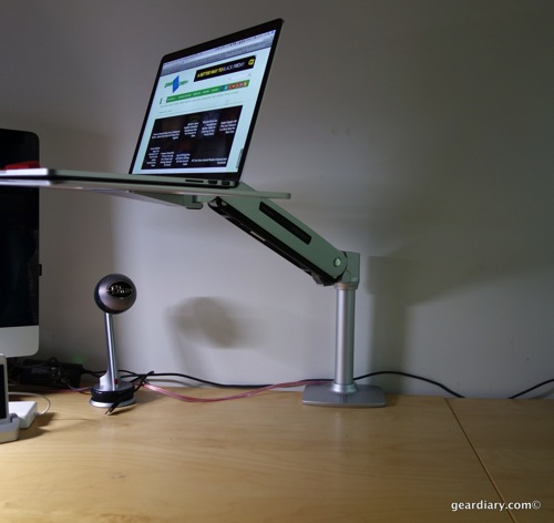 Ergotron WorkFit-P Sit-Stand Workstation for Apple Lets You Think on Your Toes  Ergotron WorkFit-P Sit-Stand Workstation for Apple Lets You Think on Your Toes